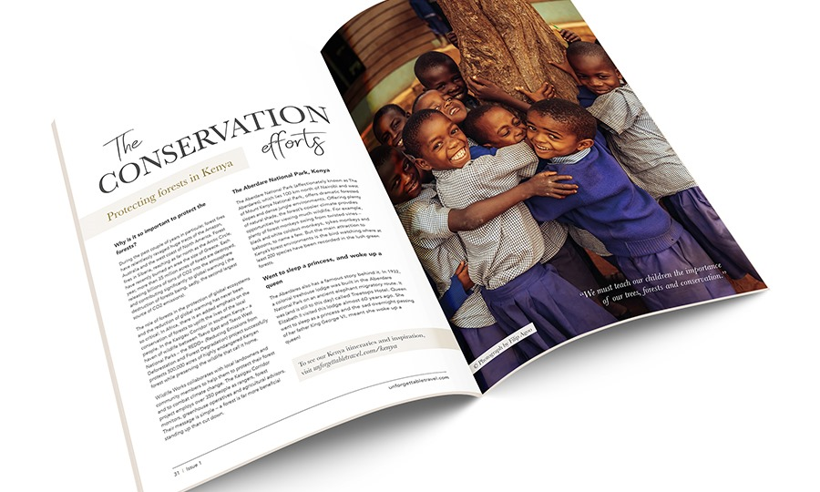 Unforgettable travel Magazine - Conservation
