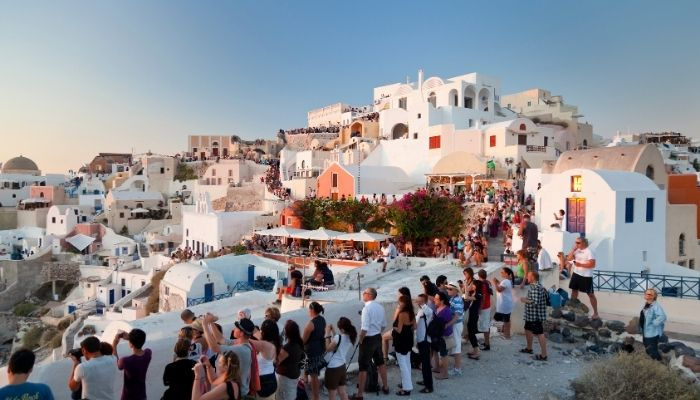 Tourists at Oia