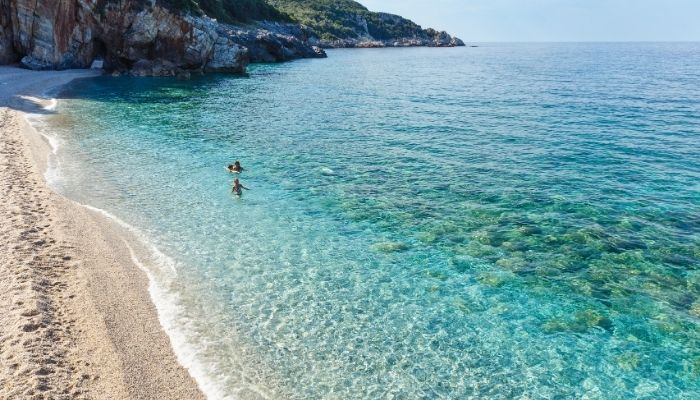 Clear waters in Greece