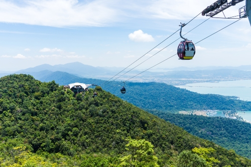 Cable car across mountainside, Langkawi