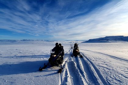 Iceland snowmobiles