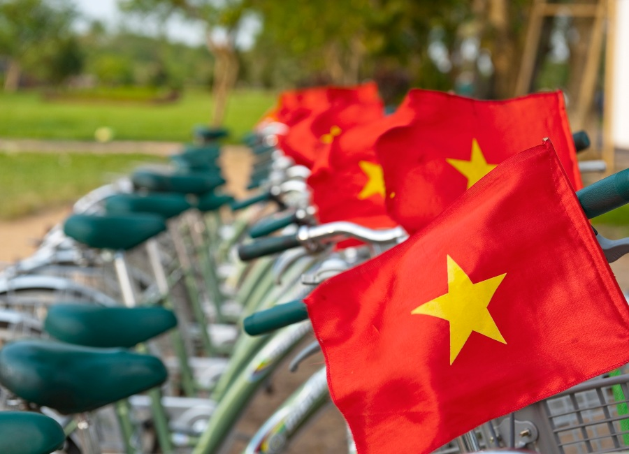 Bicycles for hire, Hue, Vietnam