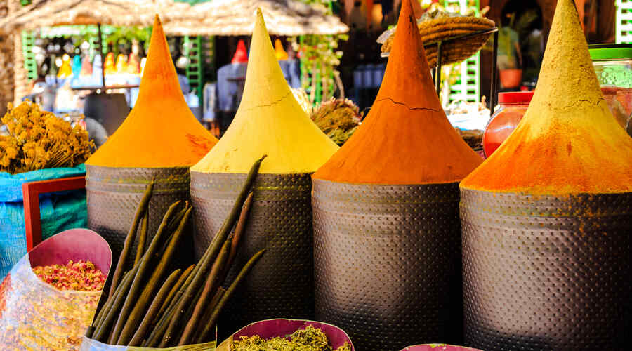 Moroccan spice stall