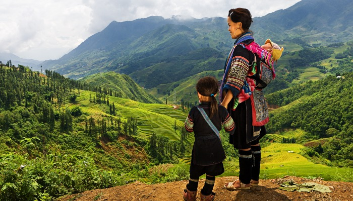 Hill tribe villagers in Sapa, northern Vietnam