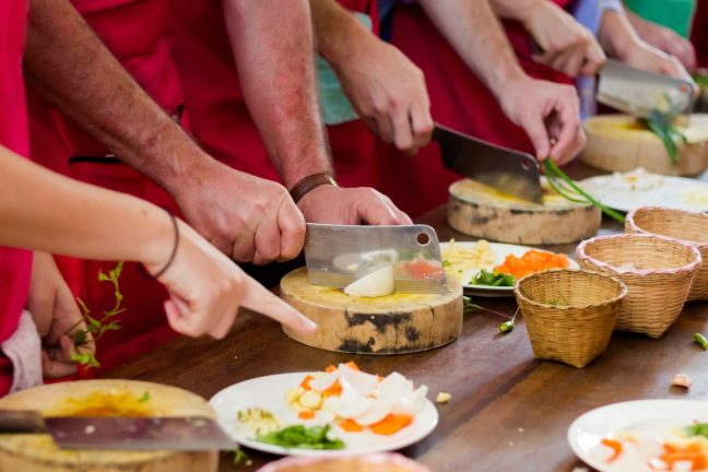 Cooking class, Thailand