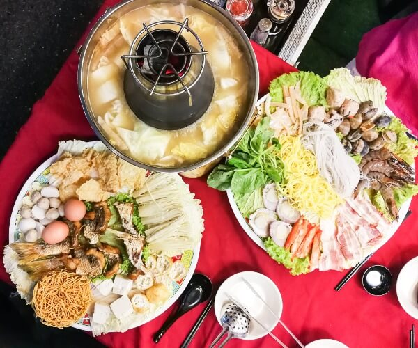 Steamboat Dinner in Cameron Highlands, Malaysia