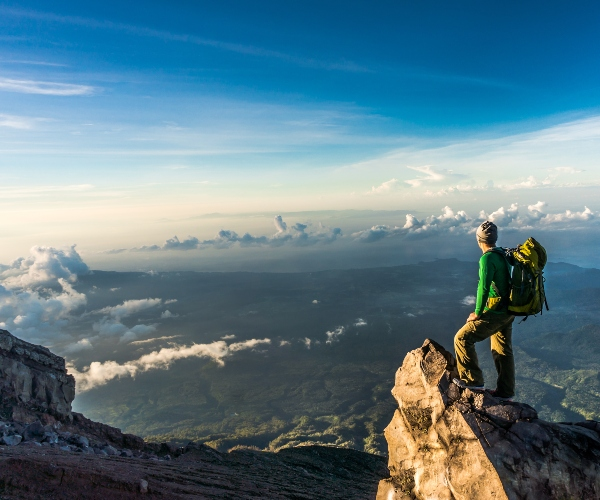 View over Mount Agung, hiking