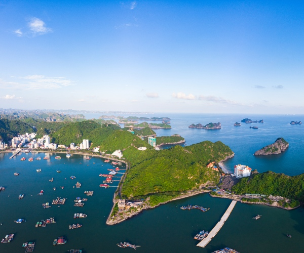 Cat Ba Island from above