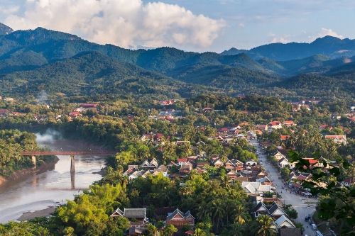 Overview of Luang Prabang city